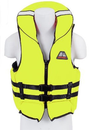 yellow foam lifejacket